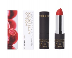 Korres Morello Matte Lipstick 54 Classic Red Ματ Κραγιόν Με Κρεμώδη Υφή 3,5g