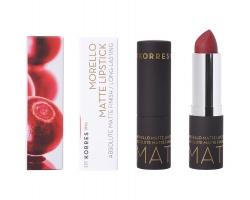 Korres Morello Matte Lipstick 59  Burgundy Red Ματ Κραγιόν Με Κρεμώδη Υφή 3,5g