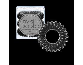 Invisi bobble Original True Black Λαστιχάκι μαλλιών, μαύρο 3τμχ