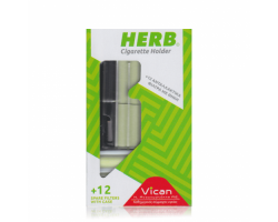 HERB Cigarette Holder -Ανταλλακτικά φίλτρα με θήκη 12 τεμάχια