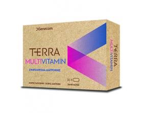 Genecom  Terra Multivitamin πολυβιταμινούχο συμπλήρωμα διατροφής για την τόνωση και αναπλήρωση των αναγκών του οργανισμού σε βιταμίνες και μέταλλα 30 ταμπλέτες