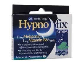 Uni-Pharma Hypno Fix Strips Συμπλήρωμα διατροφής για την γρηγορότερη έλευση ύπνου 24 ταινίες