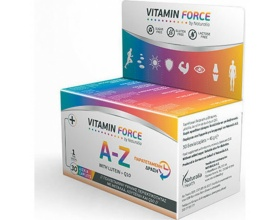 Naturalia Vitamin Force Α to Z with Lutein +Q10, Πολυβιταμίνη υψηλής περιεκτικότητας με Μέταλλα, Λουτείνη και Q10, 30caps