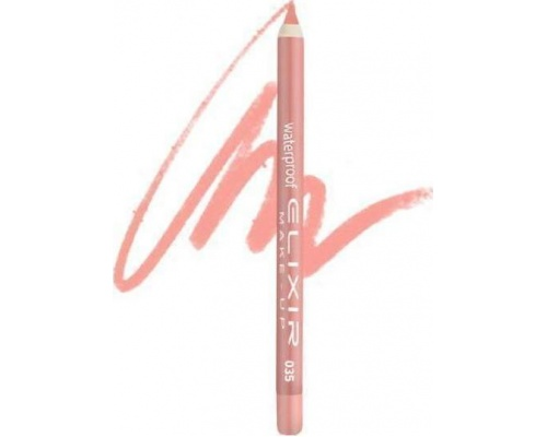 Elixir Waterproof Lip Pencil Αδιάβροχο Μολύβι Χειλιών 035 Salmon, 1τμχ