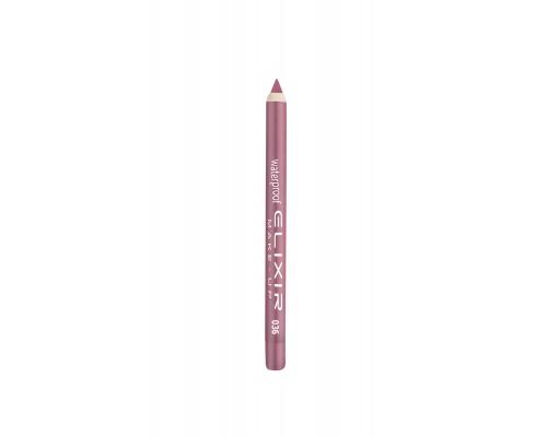 Elixir Waterproof Lip Pencil  Αδιάβροχο Μολύβι Χειλιών 036 Pink Beige, 1τμχ