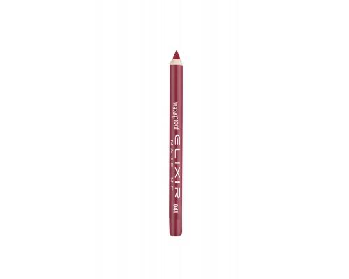 Elixir Waterproof Lip Pencil Αδιάβροχο Μολύβι Χειλιών 041 Red Cherry, 1τμχ