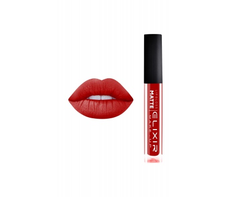 Elixir Liquid Lip Matte Ενυδατική φόρμουλα Κραγιόν μεγάλης διάρκειας 421 Scarlet Red, 1τμχ