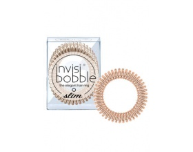 Invisibobble The Elegant Hair Ring Λαστιχάκι Μαλλιών Slim Bronze 3 τμχ