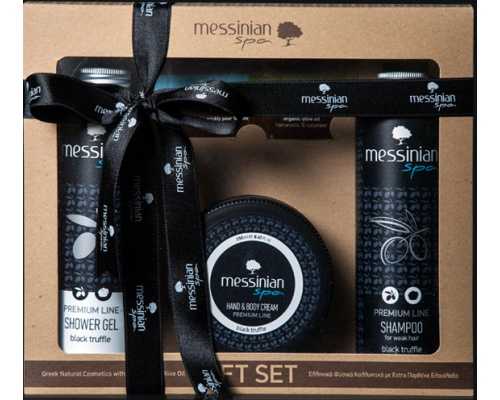 Messinian Spa Black Truffle Shower Gel 300ml & Shampoo 300ml & Hand and Body Cream 250ml
