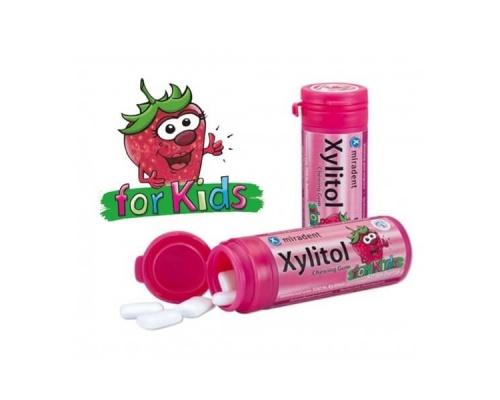 Xylitol Chewing Gum Οδοντότσιχλα με Γεύση Φράουλα για Παιδιά, 30τμχ