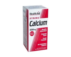 Health Aid Calcium Strong Ασβέστιο 600mg 60chew tabs