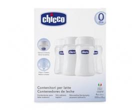 Chicco Μπουκάλια Διατήρησης Μητρικού Γάλακτος Sure Safe 0%BPA 4 τεμάχια