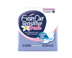 Every Day Sensitive Fresh Center Plus, Σερβιέτες Super Ultra Plus, 10τμχ