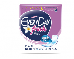 EveryDay Fresh Center Plus, Σερβιέτες Maxi Night Ultra Plus, 10τμχ