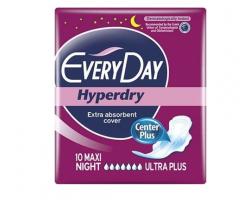 EveryDay Hyperdry Center Plus, Σερβιέτες Maxi Night Ultra Plus, 10τμχ.