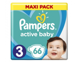 Pampers Πάνες Active Baby Μέγεθος 3 (Midi) 6-10Kg, 66 Πάνες