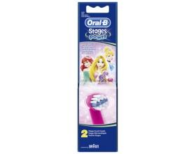 Oral-B  Stages Power Princess extra soft, Ανταλλακτικές κεφαλές οδοντόβουρτσας για παιδιά 2 τεμάχια