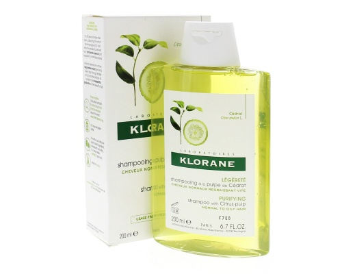 Klorane Shampoo με Πολτό Κίτρου για Κανονικά Μαλλιά με τάση Λιπαρότητας 200ml
