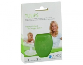 Ardo Tulips, Ψευδοθηλές για διευκόλυνση θηλασμού απο ευαίσθητες και τραυματισμένες θηλές,  Μέγεθος L, 2τμχ