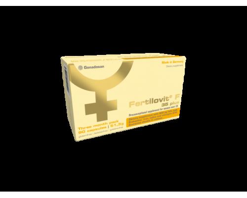 Fertilovit F 35 plus Ορθομοριακό Συμπλήρωμα Διατροφής με συνεργιστική δράση για Καλύτερη Ποιότητα Ωαρίων, προσαρμοσμένη στις ανάγκες των γυναικών πάνω από 35 ετών, 30 caps