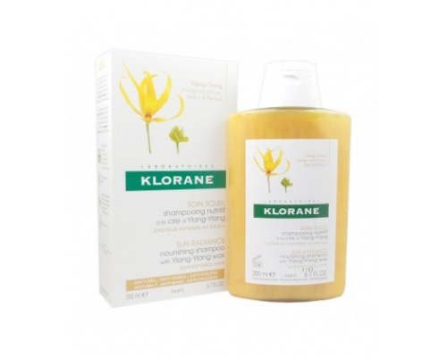 Klorane Shampoo με κερί Ylang-Ylang Σαμπουάν Θρέψης για Μαλλιά Εκτεθειμένα στο Ήλιο 200ml