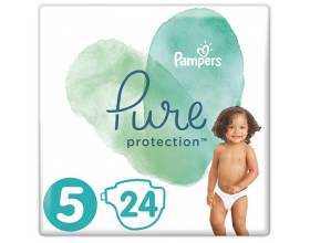 Pampers Pure Protection Πάνες Μέγεθος 5 11+ kg, 24 Πανες.