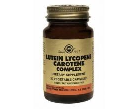 Solgar Lutein Lycopene Caotene Complex Καροτίνη Φυσικής Προέλευσης 30 κάψουλες