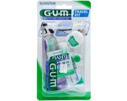 GUM Travel Kit Brush (156), Σετ Ταξιδιού με Οδοντόβουρτσα, Οδοντόκρεμα 12.5ml και Οδοντικό Νήμα 10m