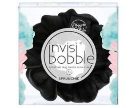 Invisibobble Sprunchie True Black Λαστιχάκι Μαλλιών, με Υφασμάτινη Επένδυση 1 Τεμάχιο