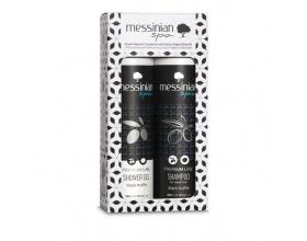 Messinian Spa Premium Black Truffle Αφρόλουτρο με Μαύρη Τρούφα 300ml & Σαμπουάν για Αδύναμα Μαλλιά 300ml