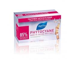 Phyto PHYTOCYANE Δράση κατά της τριχόπτωσης & τόνωση της τριχοφυΐας,12 αμπούλες X 7,5 ml