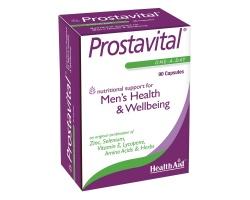 HEALTH AID Prostavital Συνδυασμός από Βιταμίνες, Μέταλλα & Saw Palmetto με Λυκοπένη για τον προστάτη  90 κάψουλες