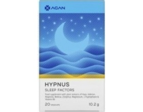Agan Hypnus Sleep Factors Συμπλήρωμα Διατροφής με Μελατονίνη για την Βελτίωση της Ποιότητας Ύπνου, 20 vegicaps