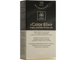 Apivita My Color Elixir Μόνιμη Βαφή Μαλλιών No 1.0 Μαύρο 1 τεμάχιο