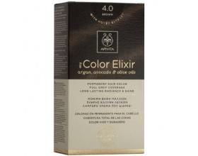Apivita My Color Elixir Μόνιμη Βαφή Μαλλιών No 4.0 Καστανό 1 τεμάχιο