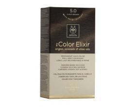 Apivita My Color Elixir Μόνιμη Βαφή Μαλλιών No 5.0 Καστανό ανοιχτό 1 τεμάχιο
