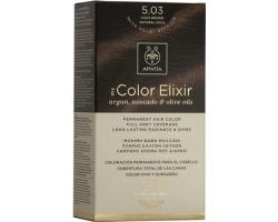 Apivita My Color Elixir Μόνιμη Βαφή Μαλλιών No 5.03 Καστανό ανοιχτό φυσικό μελί 1 τεμάχιο