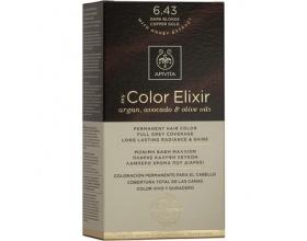 Apivita My Color Elixir Μόνιμη Βαφή Μαλλιών No 6.43 Ξανθό σκούρο χάλκινο μελί 1 τεμάχιο