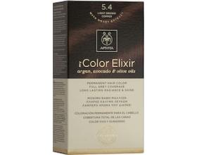 Apivita My Color Elixir Μόνιμη Βαφή Μαλλιών No 5.4 Καστανό ανοιχτό χάλκινο 1 τεμάχιο