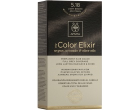 Apivita My Color Elixir Μόνιμη Βαφή Μαλλιών No 5.18 Καστανό ανοιχτό σαντρέ περλέ 1 τεμάχιο