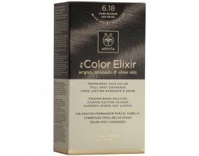 Apivita My Color Elixir Μόνιμη Βαφή Μαλλιών No 6.18 Ξανθό Σκούρο Σαντρέ Περλέ, 1 τεμάχιο