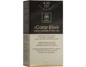 Apivita My Color Elixir Μόνιμη Βαφή Μαλλιών No 4.20 Καστανό βιολετί 1 τεμάχιο