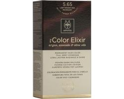 Apivita My Color Elixir Μόνιμη Βαφή Μαλλιών No 5.65 Καστανό ανοιχτό κόκκινο μαονί 1 τεμάχιο