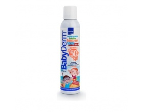 Intermed BabyDerm Invisible Sunscreen Spray SPF50+ for Kids Διάφανο Αντηλιακό Σπρέι Πολύ Υψηλής Προστασίας για Παιδιά, 200ml
