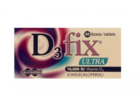 Uni-pharma D3 Fix Ultra 10000iu βιταμίνη D3 30 δισκία