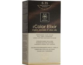 Apivita My Color Elixir Μόνιμη Βαφή Μαλλιών No6.35 Ξανθό Σκούρο Μελί Μαονί , 1 τεμάχιο