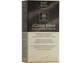 Apivita My Color Elixir Μόνιμη Βαφή Μαλλιών No6.87 Ξανθό Σκούρο Περλέ Μπεζ, 1 τεμάχιο