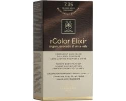 Apivita My Color Elixir Μόνιμη Βαφή Μαλλιών No7.35 Ξανθό Μελί Μαονί, 1 τεμάχιο