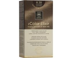 Apivita My Color Elixir Μόνιμη Βαφή Μαλλιών No8.38 Ξανθό Ανοιχτό Μελί Περλέ, 1 τεμάχιο