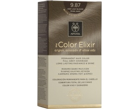 Apivita My Color Elixir Μόνιμη Βαφή Μαλλιών No 9.87 Ξανθό Πολύ Ανοιχτό Περλέ Μπέζ, 1 τεμάχιο